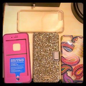 4 semi used iPhone 7 plus phone cases.